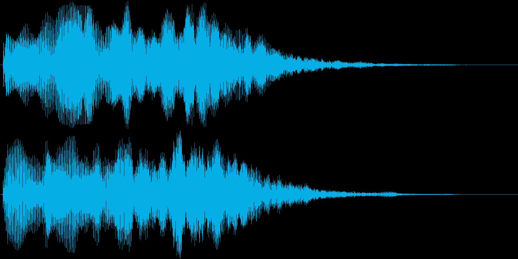 神秘的で優しい音ですの再生済みの波形