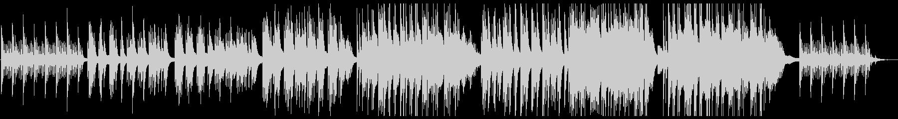 しっとりとしたピアノの感動系の未再生の波形