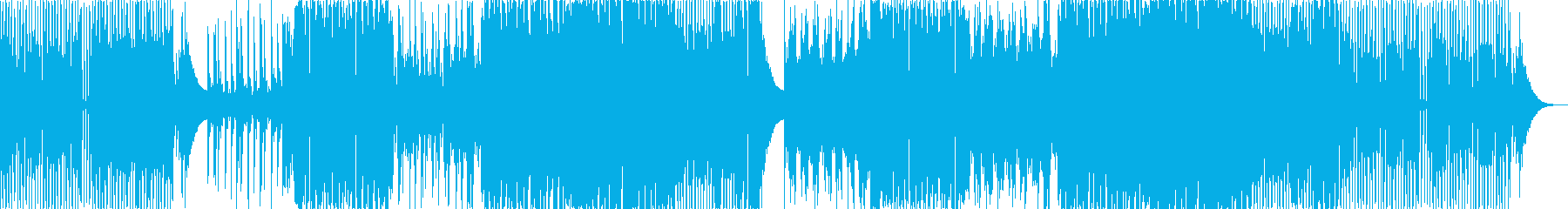 トランス風のきらびやかなEDM系BGMの再生済みの波形
