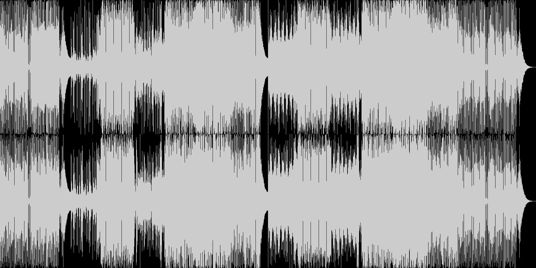 トランス風のきらびやかなEDM系BGMの未再生の波形