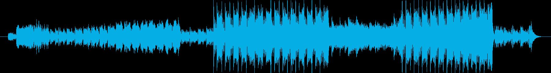 ミステリアスなファンタジーBGMの再生済みの波形