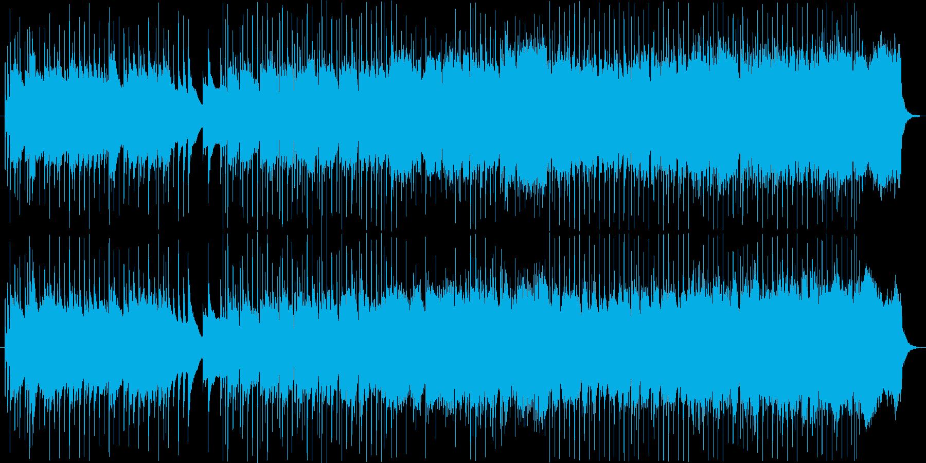 ほのぼのとした和風インストの再生済みの波形