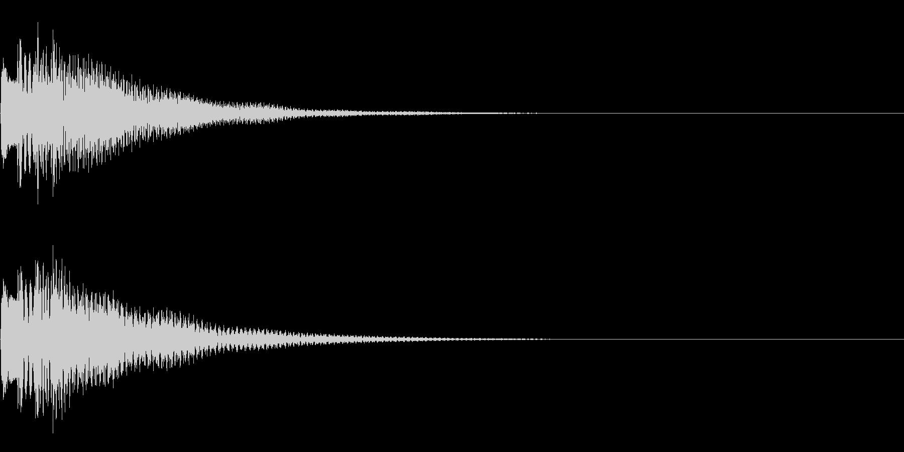 アイテム取得音の未再生の波形