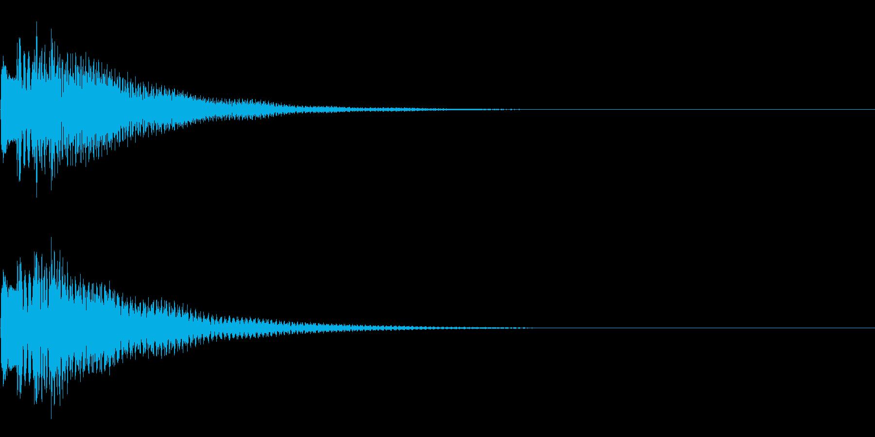 アイテム取得音の再生済みの波形