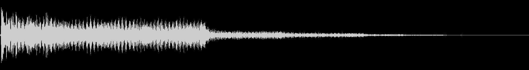 クラシックギターのジングルの未再生の波形