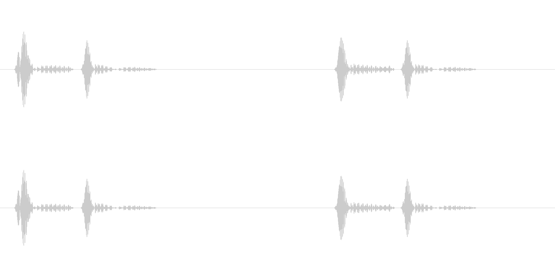 ドクンドクンという心臓の鼓動(遅)ループの未再生の波形