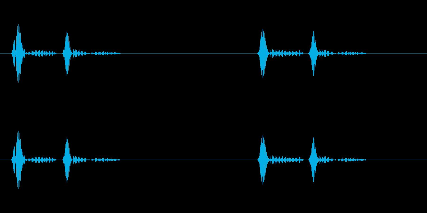 ドクンドクンという心臓の鼓動(遅)ループの再生済みの波形