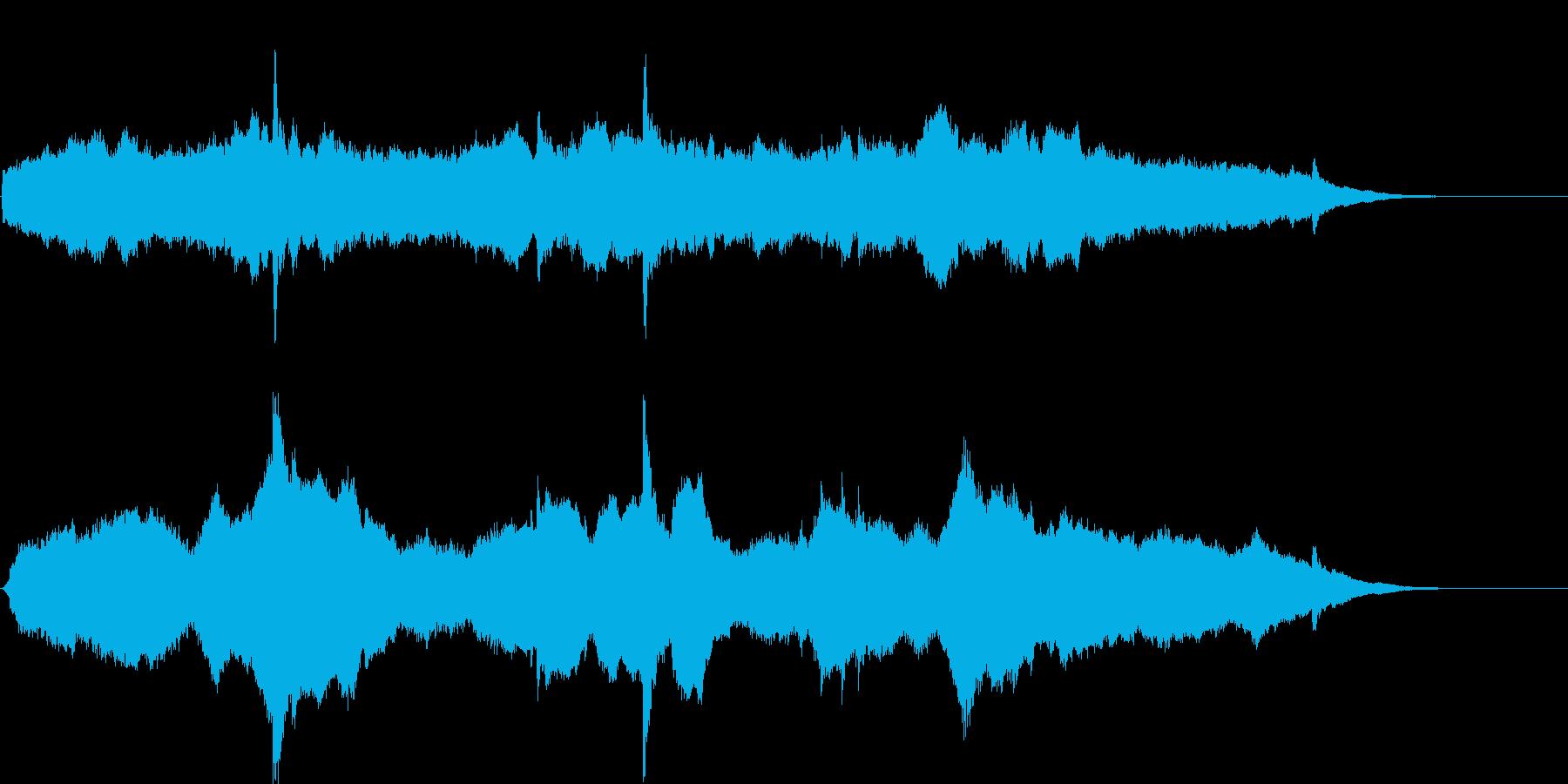 宇宙的なアンビエントサウンド+ピアノ。の再生済みの波形