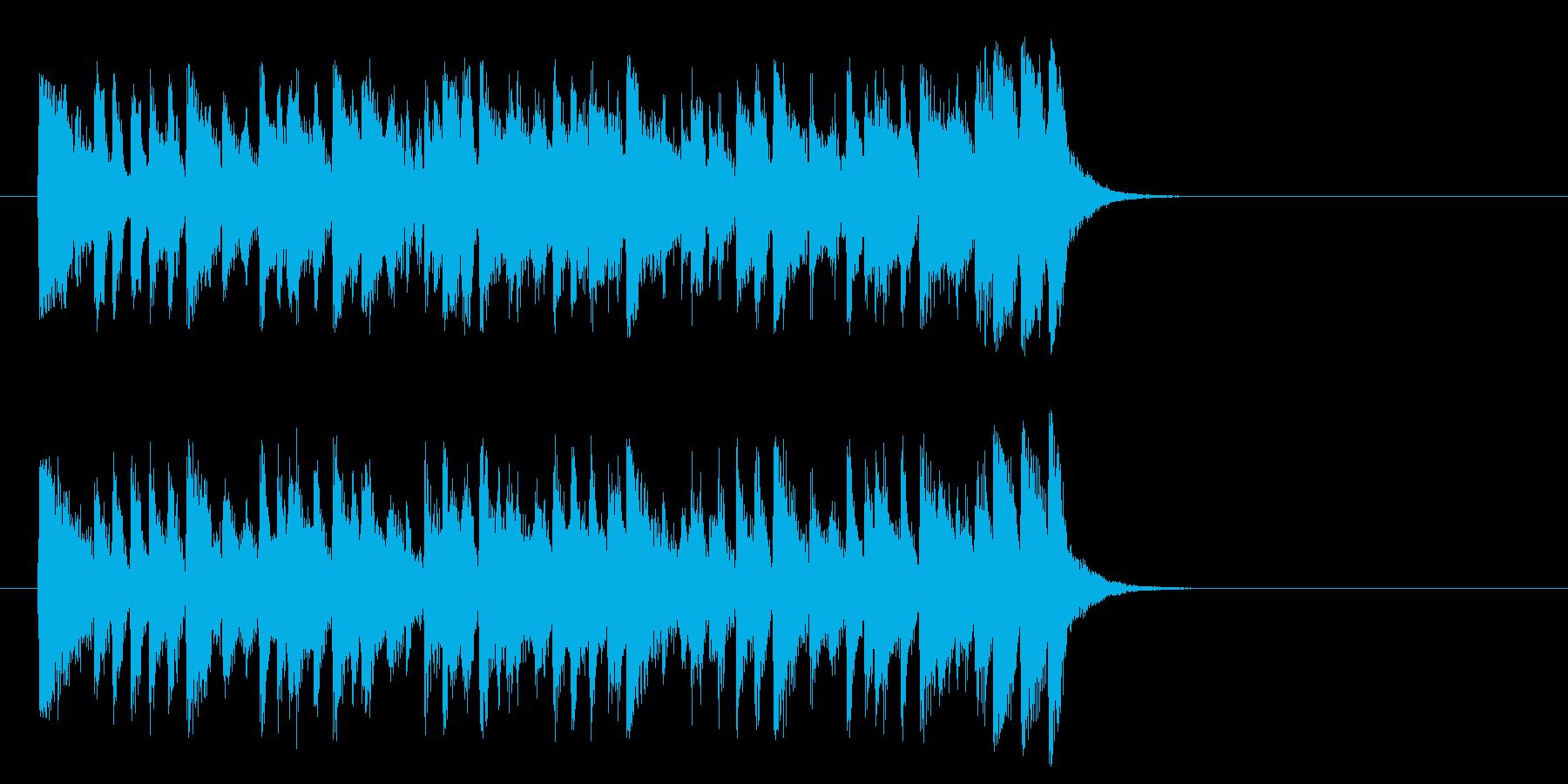 夏のフュージョンポップ(サビ)の再生済みの波形