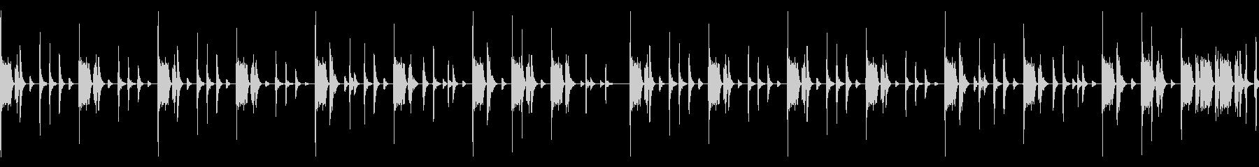ヒップホップのループの未再生の波形