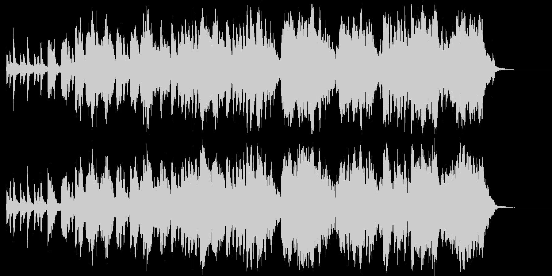 バイオリンの軽快なポップスの未再生の波形