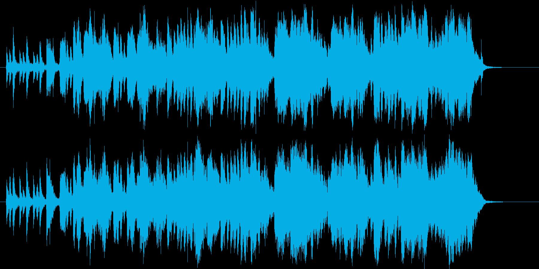 バイオリンの軽快なポップスの再生済みの波形