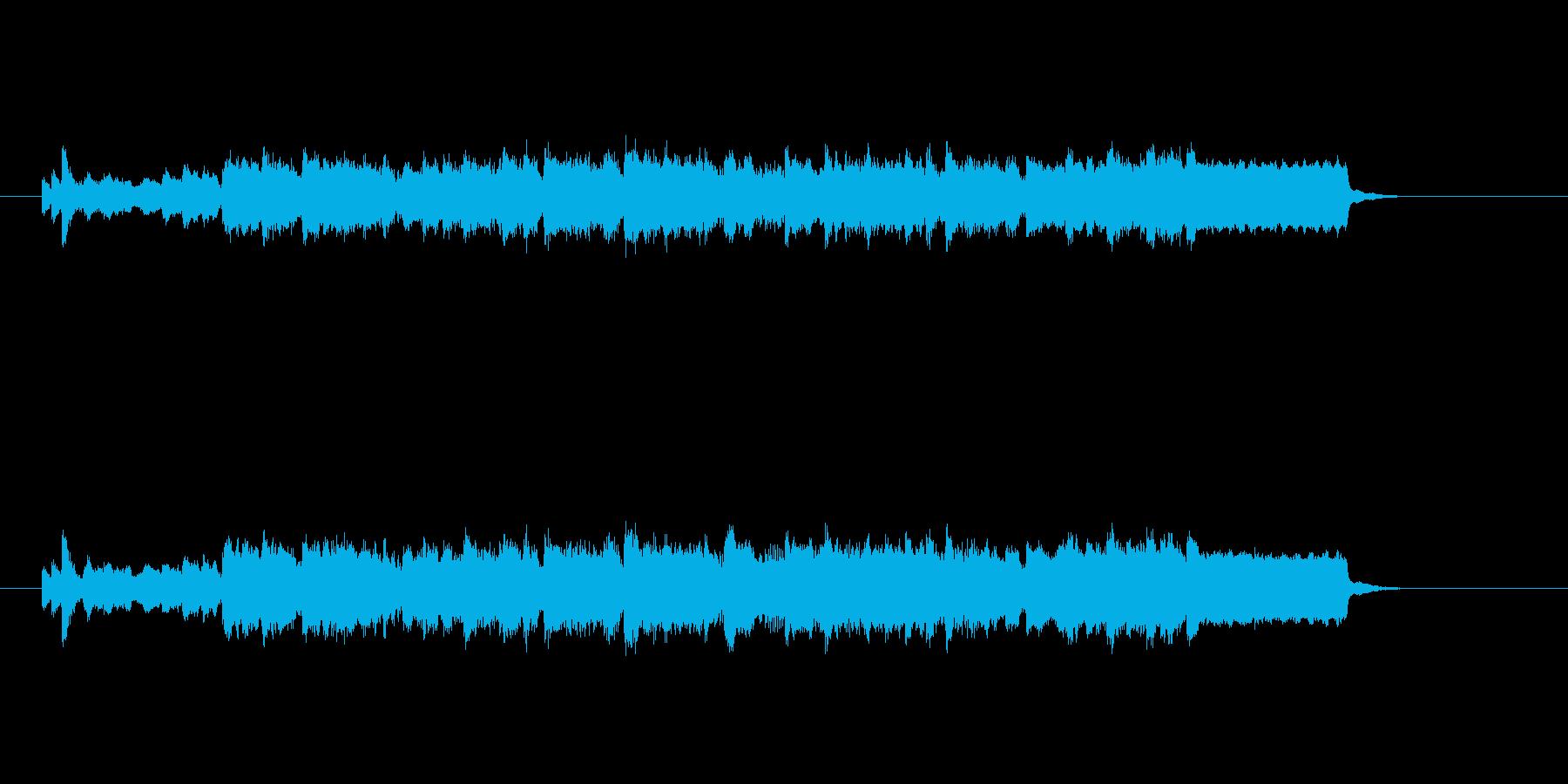 弦とピアノの重厚な響きの再生済みの波形