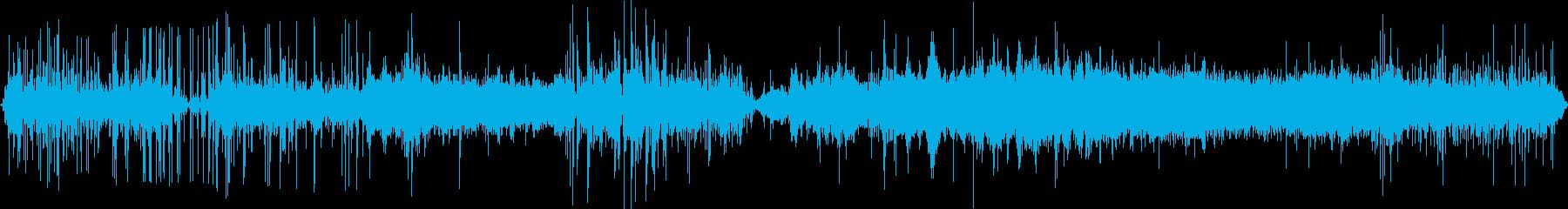 コポコポコポといった水中で聴こえる音の再生済みの波形