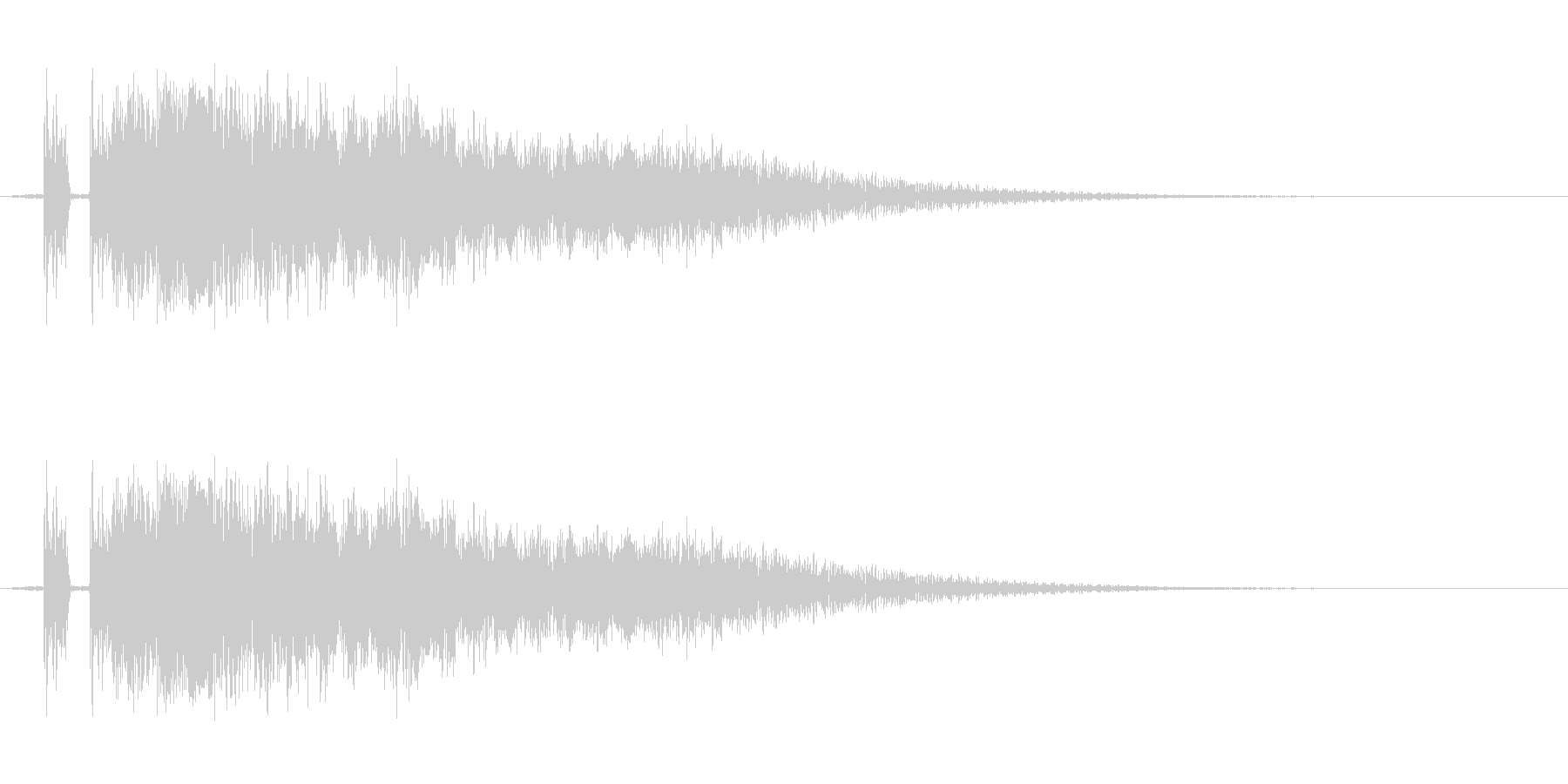 剣の音。「シャキーン」の未再生の波形