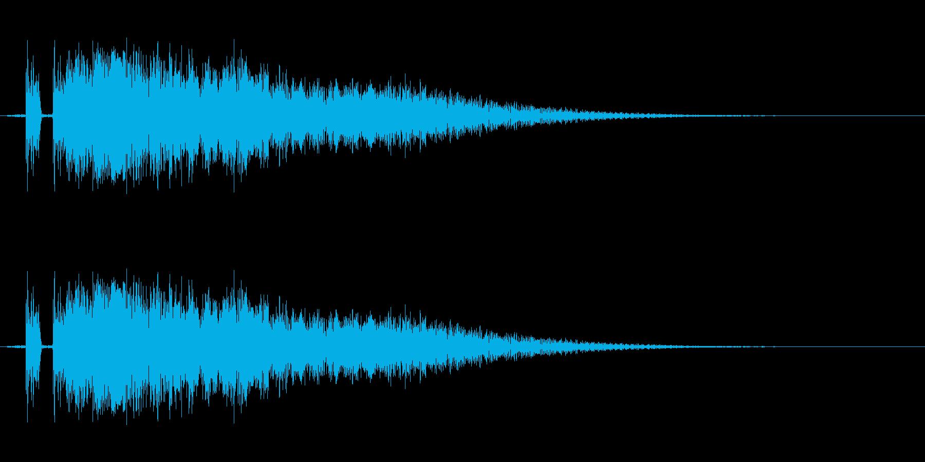 剣の音。「シャキーン」の再生済みの波形