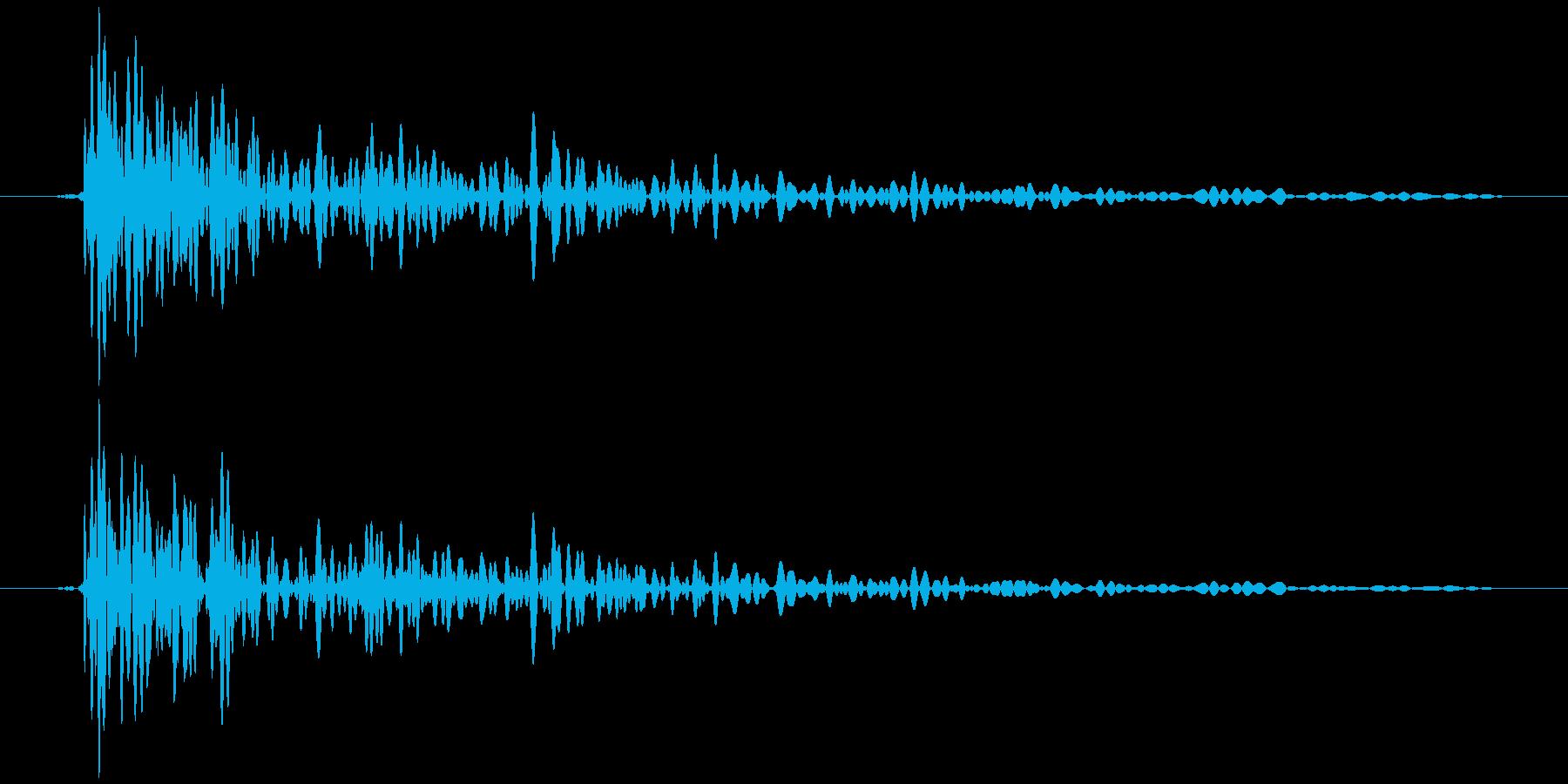 引き戸 閉めきり音 タァン…の再生済みの波形