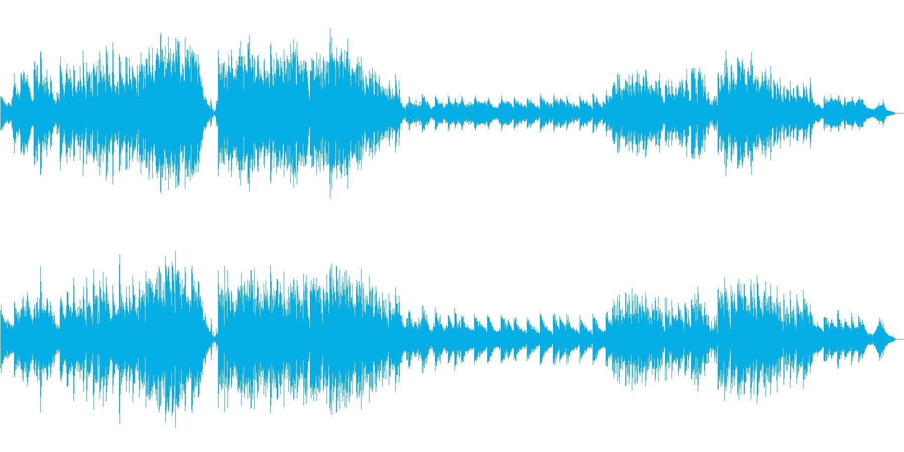 癒しのクリスマスの再生済みの波形