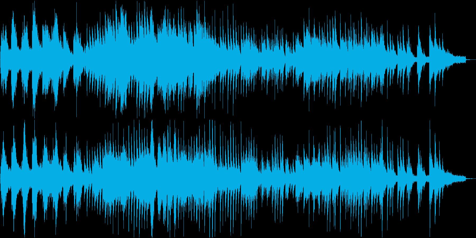 透明感のある静かで自由な感じのピアノソロの再生済みの波形