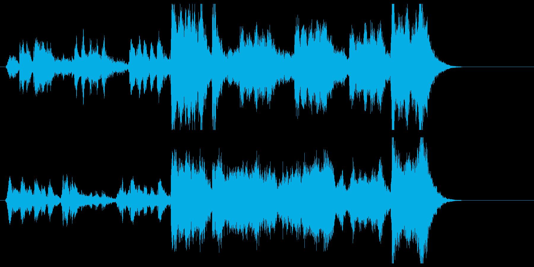 躍動感ある不思議なポップジングルの再生済みの波形