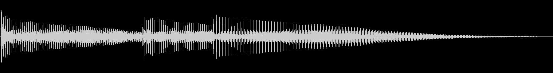 テテテン(機械的なキャンセル音)の未再生の波形