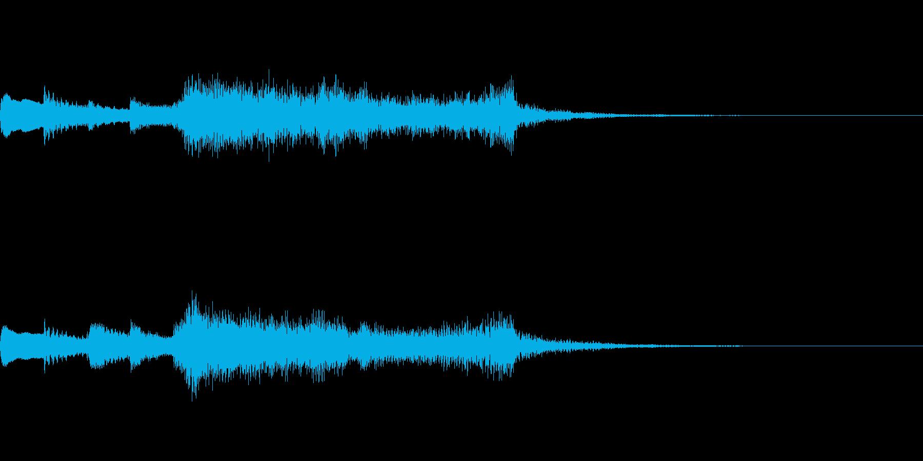 少し事件が起きそうなタイトルジングル風の再生済みの波形