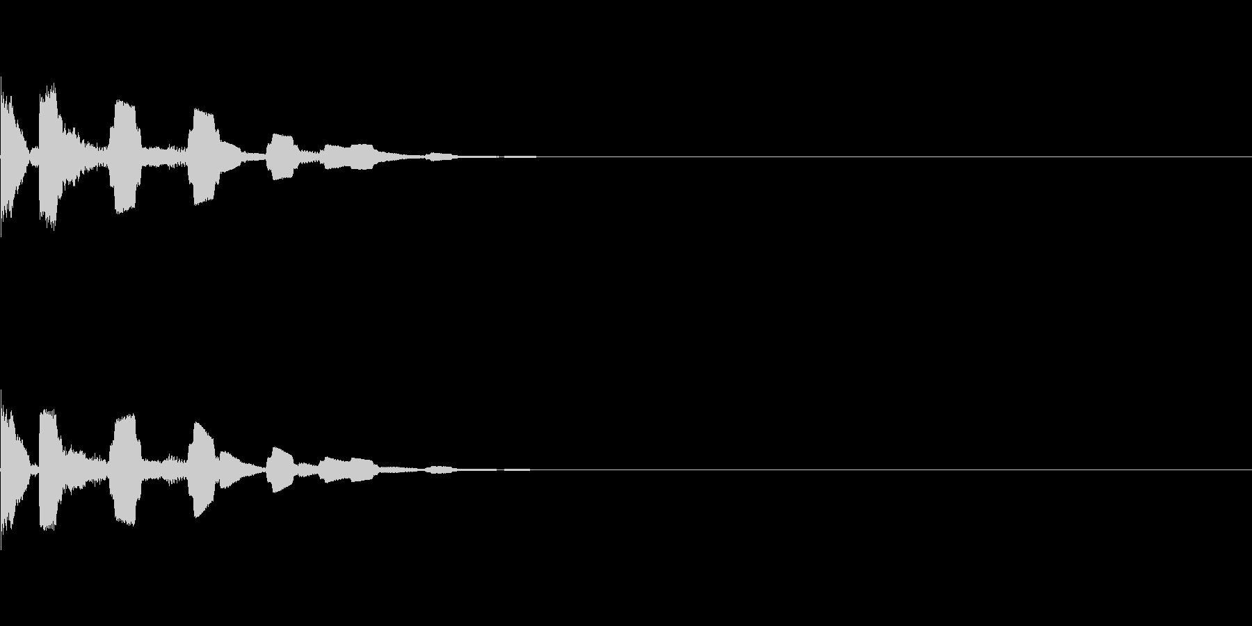 キラキラ電子音(選択、決定)の未再生の波形