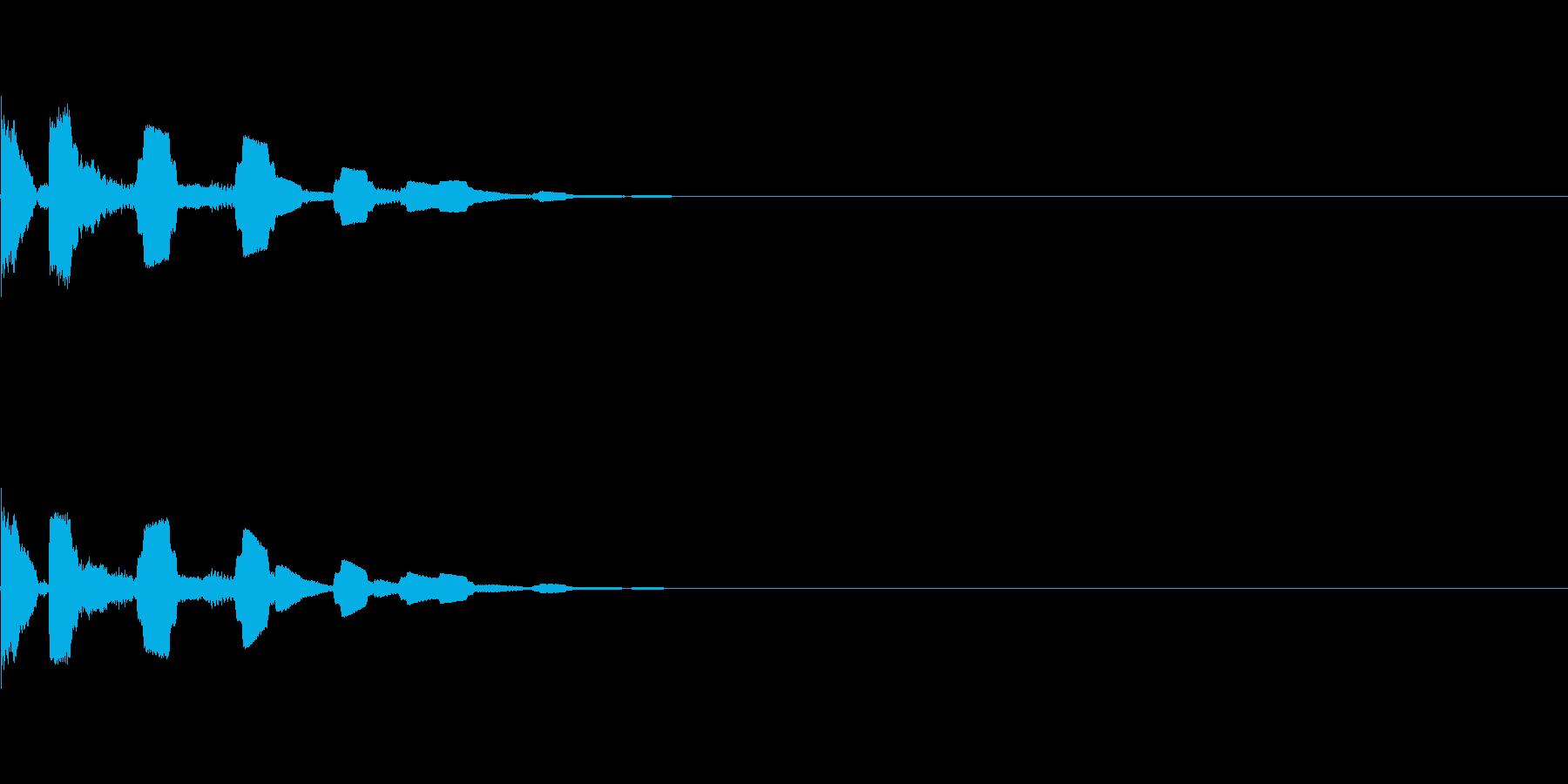 キラキラ電子音(選択、決定)の再生済みの波形