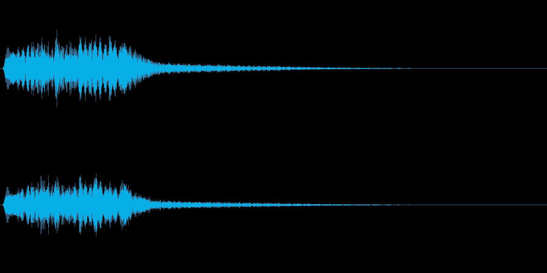 和風な琴の再生済みの波形