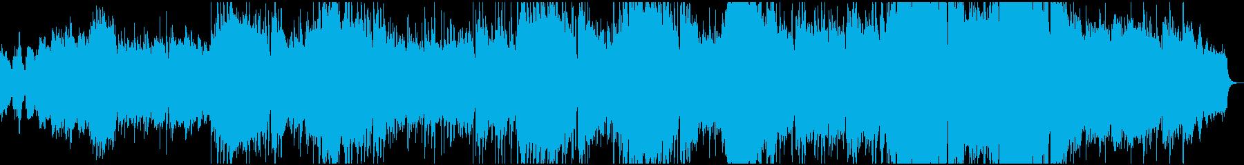 シベリウスのフィンランディアから平和の歌の再生済みの波形