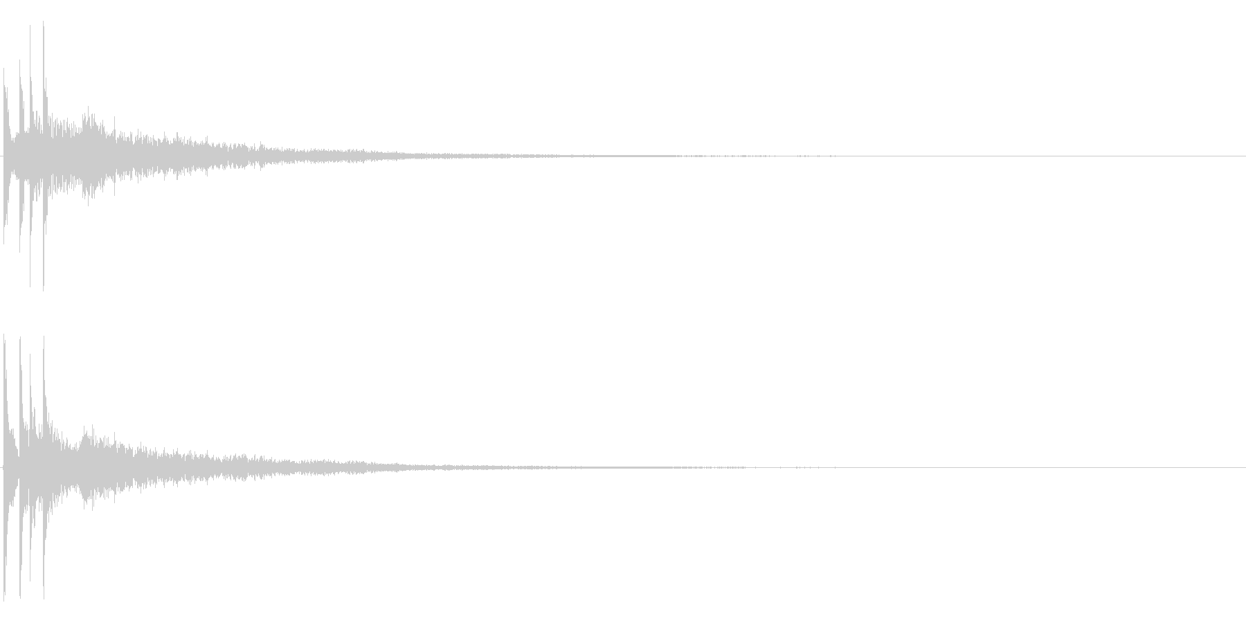 ティロンーの未再生の波形