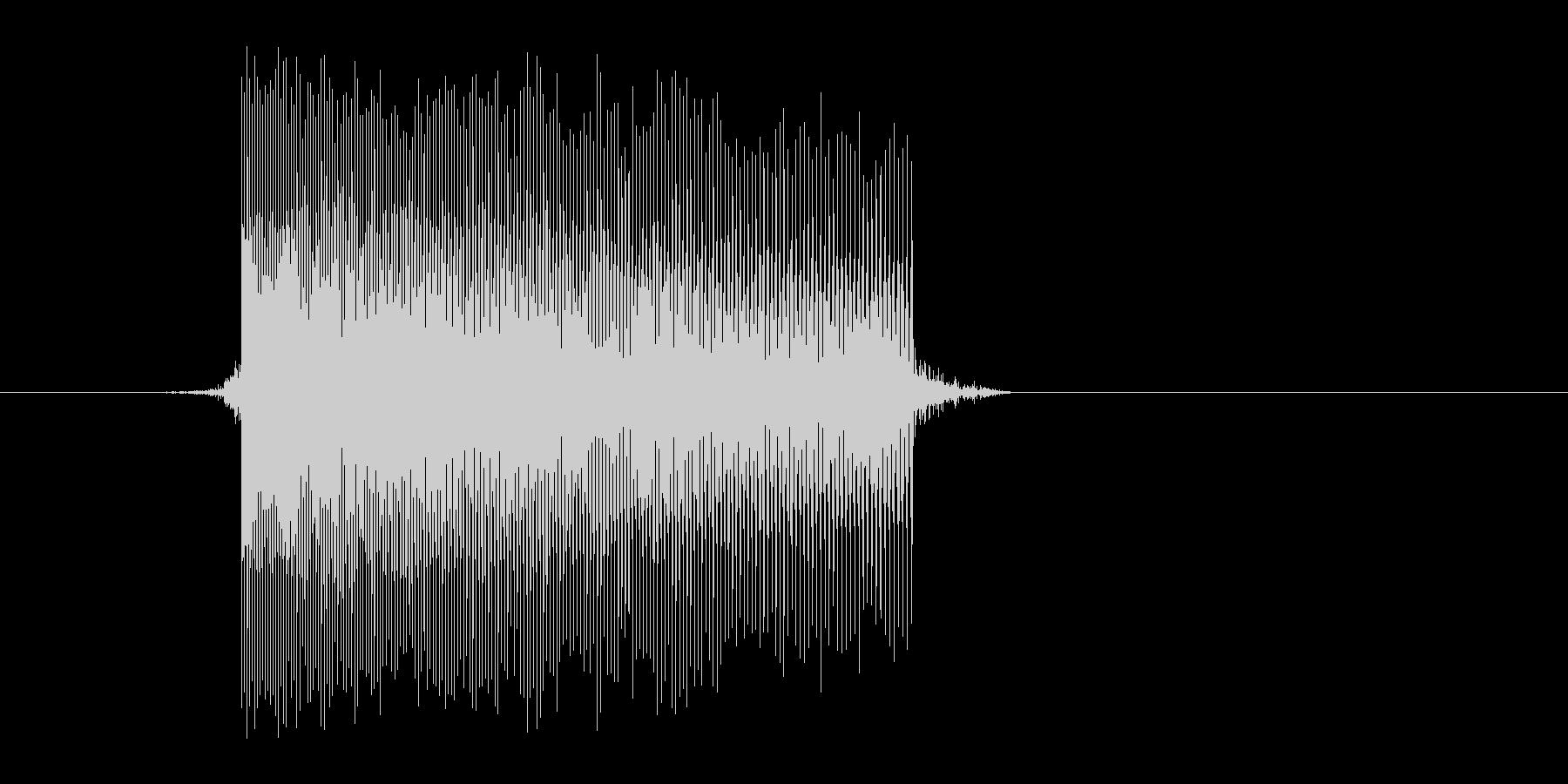ゲーム(ファミコン風)レーザー音_048の未再生の波形