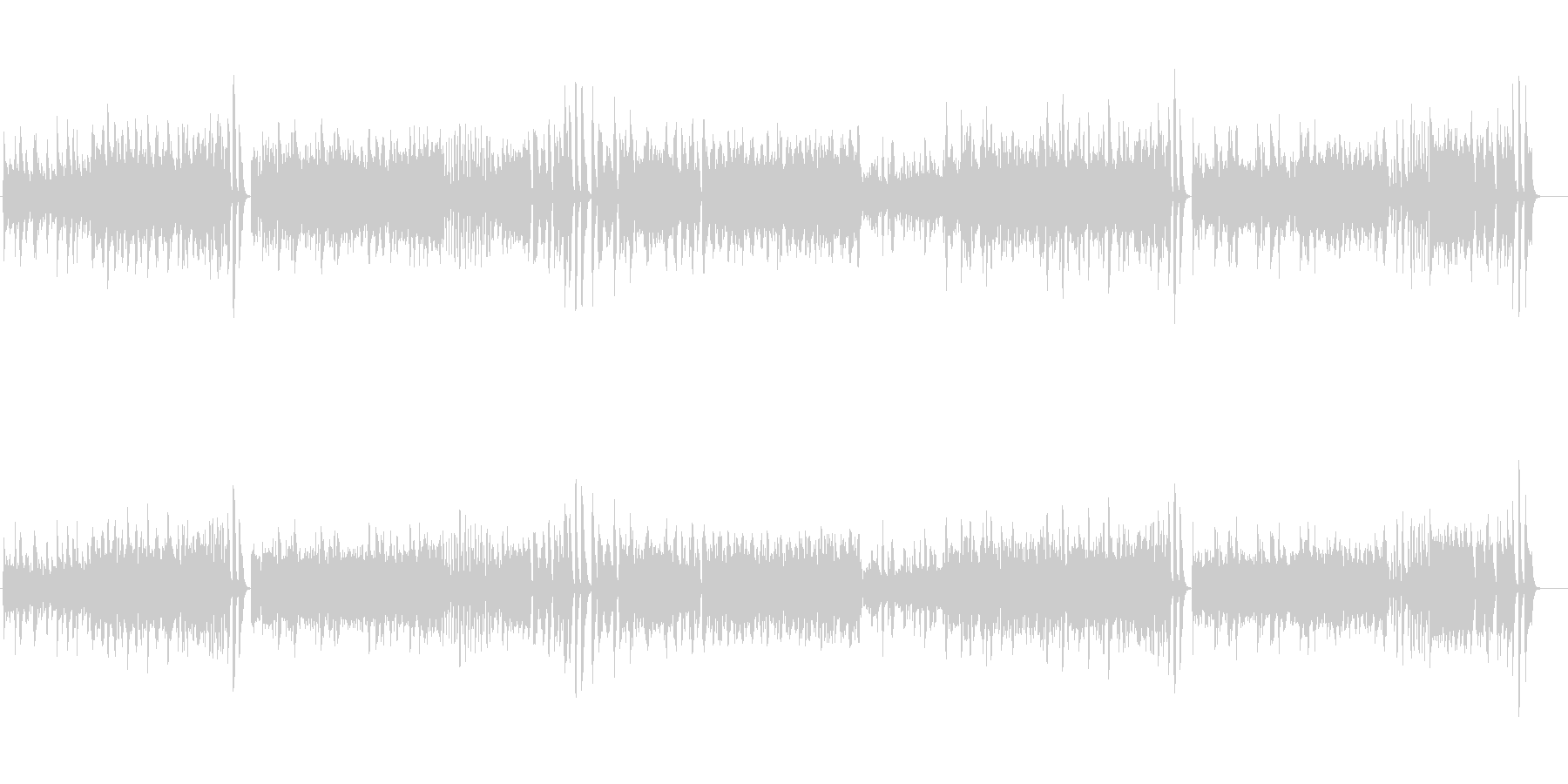 モーツァルトのピアノソナタをピアノ演奏での未再生の波形