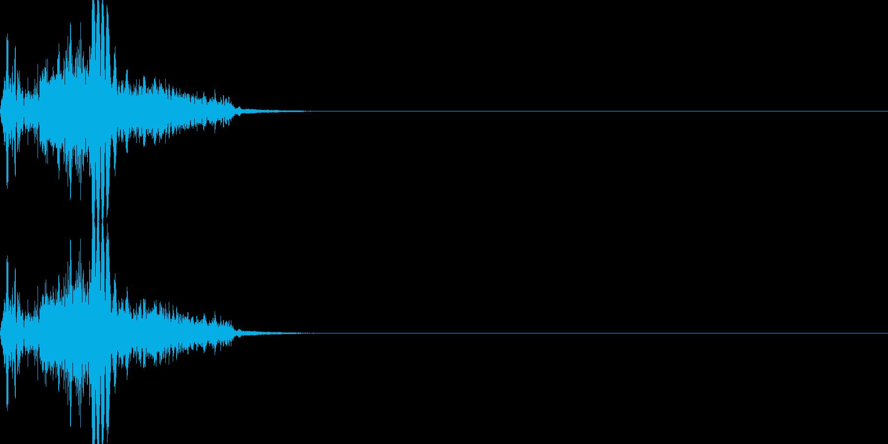 斬撃音・剣系武器の攻撃音の再生済みの波形