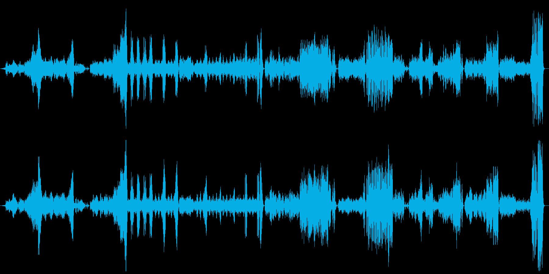 『美しく青きドナウ』 オーケストラの再生済みの波形