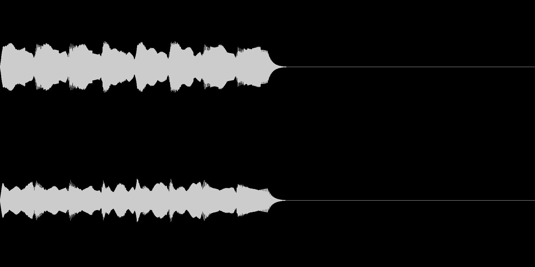 スマホや携帯電話のシンプルな着信音ですの未再生の波形