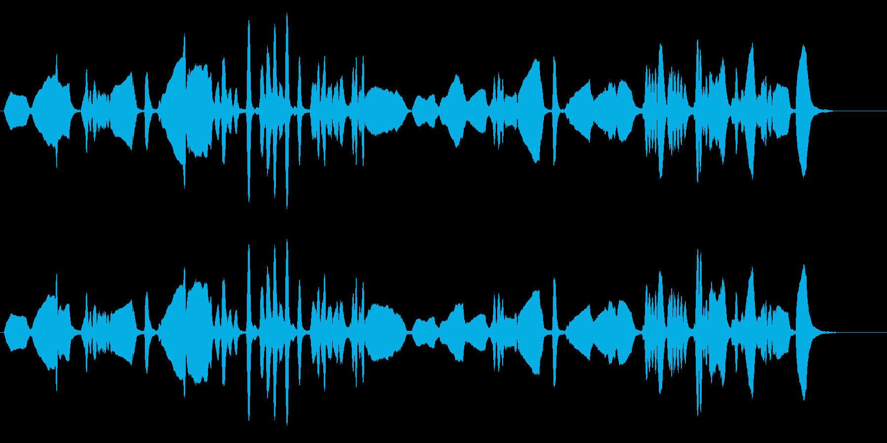 クラシカルなバイオリンソロの再生済みの波形