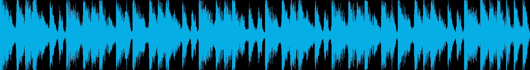 【ループC】ファンキーなブレイクビーツの再生済みの波形