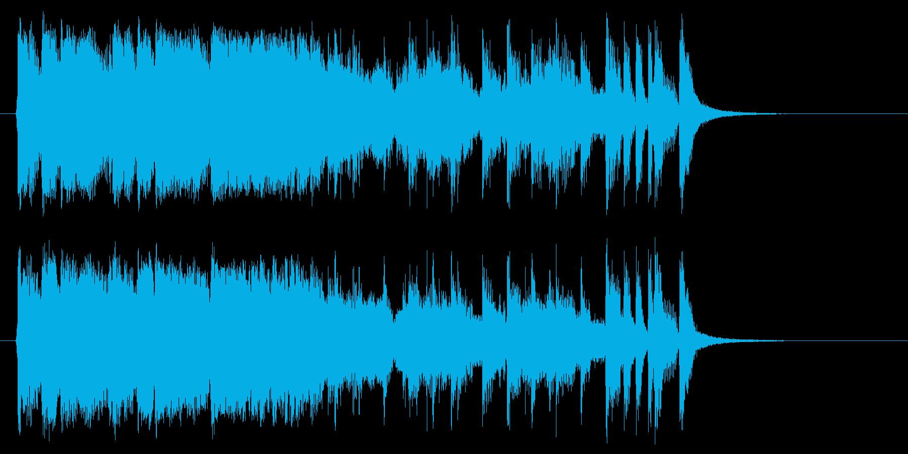 爽やかなフュージョン風のジングルの再生済みの波形