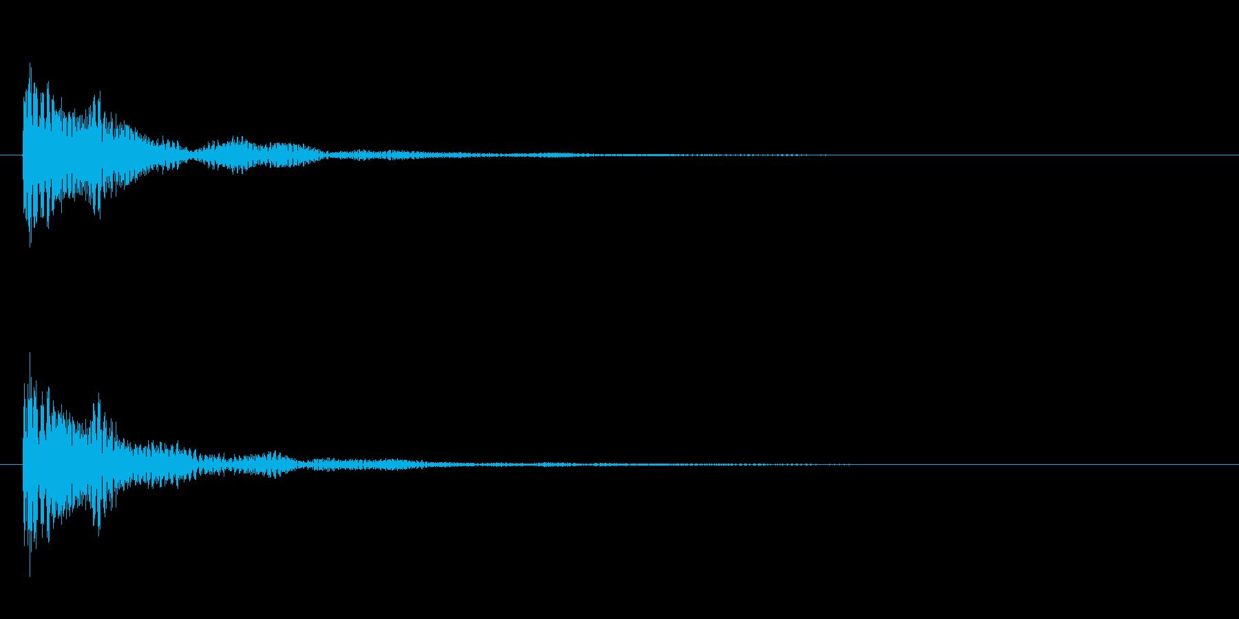 ドドン!という太鼓を叩く音の効果音SE…の再生済みの波形