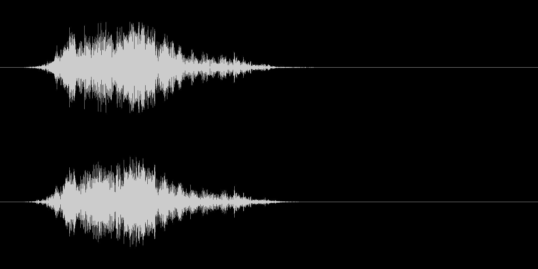 モンスターの発声 6の未再生の波形