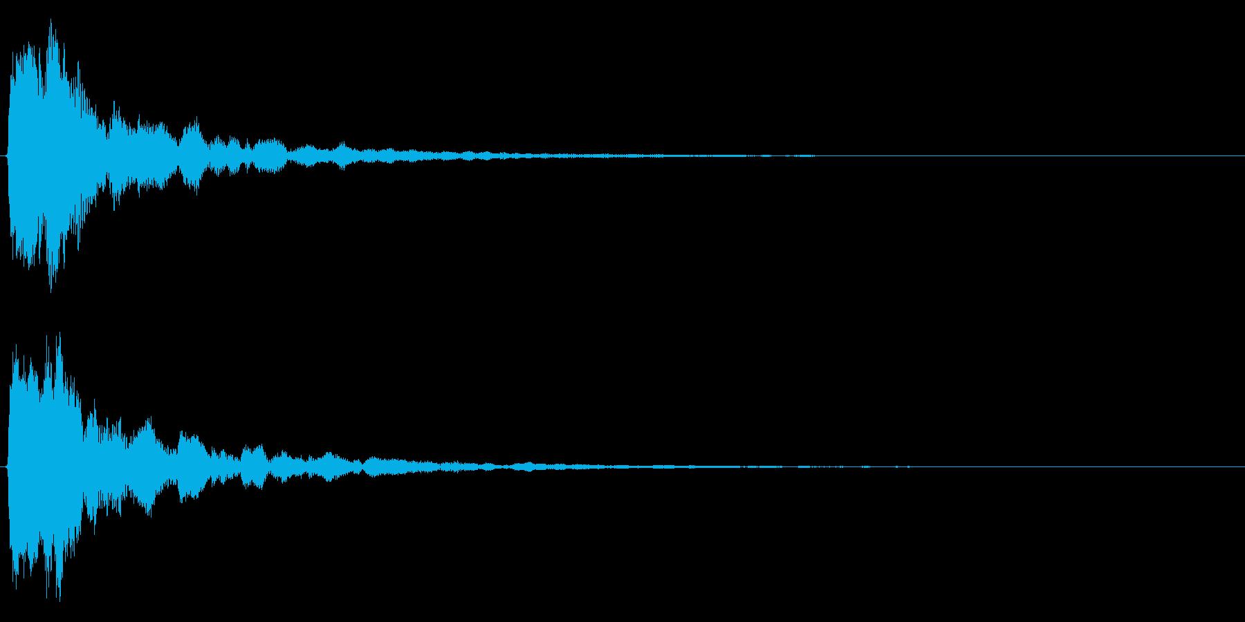 明るいテロップ音 ボタン音 決定音!04の再生済みの波形