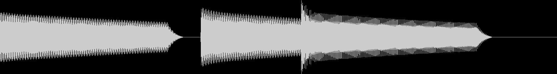 ATM 操作音 9の未再生の波形