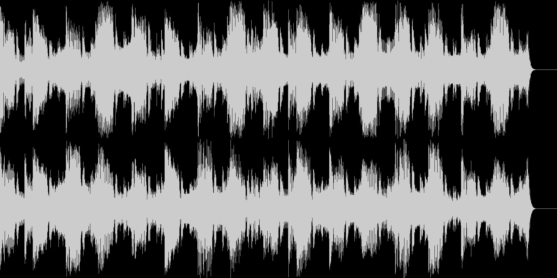 テクノとロックの融合したBGMの未再生の波形