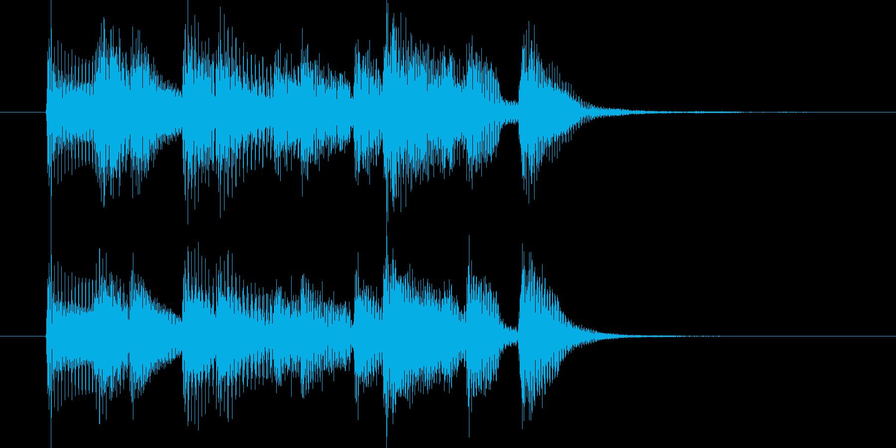 ジングル(ジャジー3)の再生済みの波形