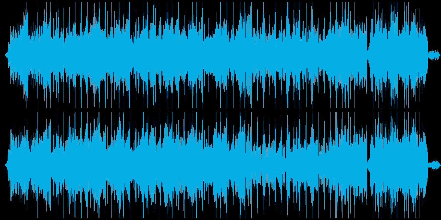 音楽の逆再生を早送り(逆回転巻き戻し)の再生済みの波形