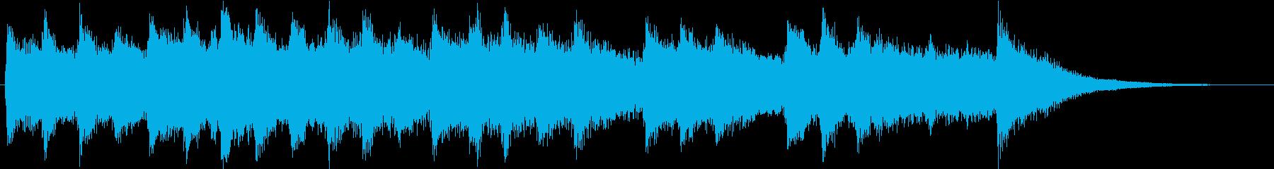 さわやかな目覚めのイメージのチャイムの再生済みの波形