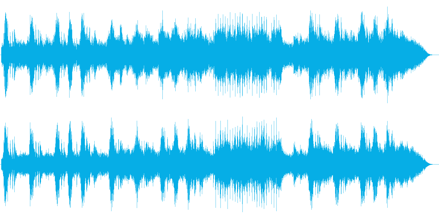 ゆったり壮大ピアノシンセサイザーサウンドの再生済みの波形