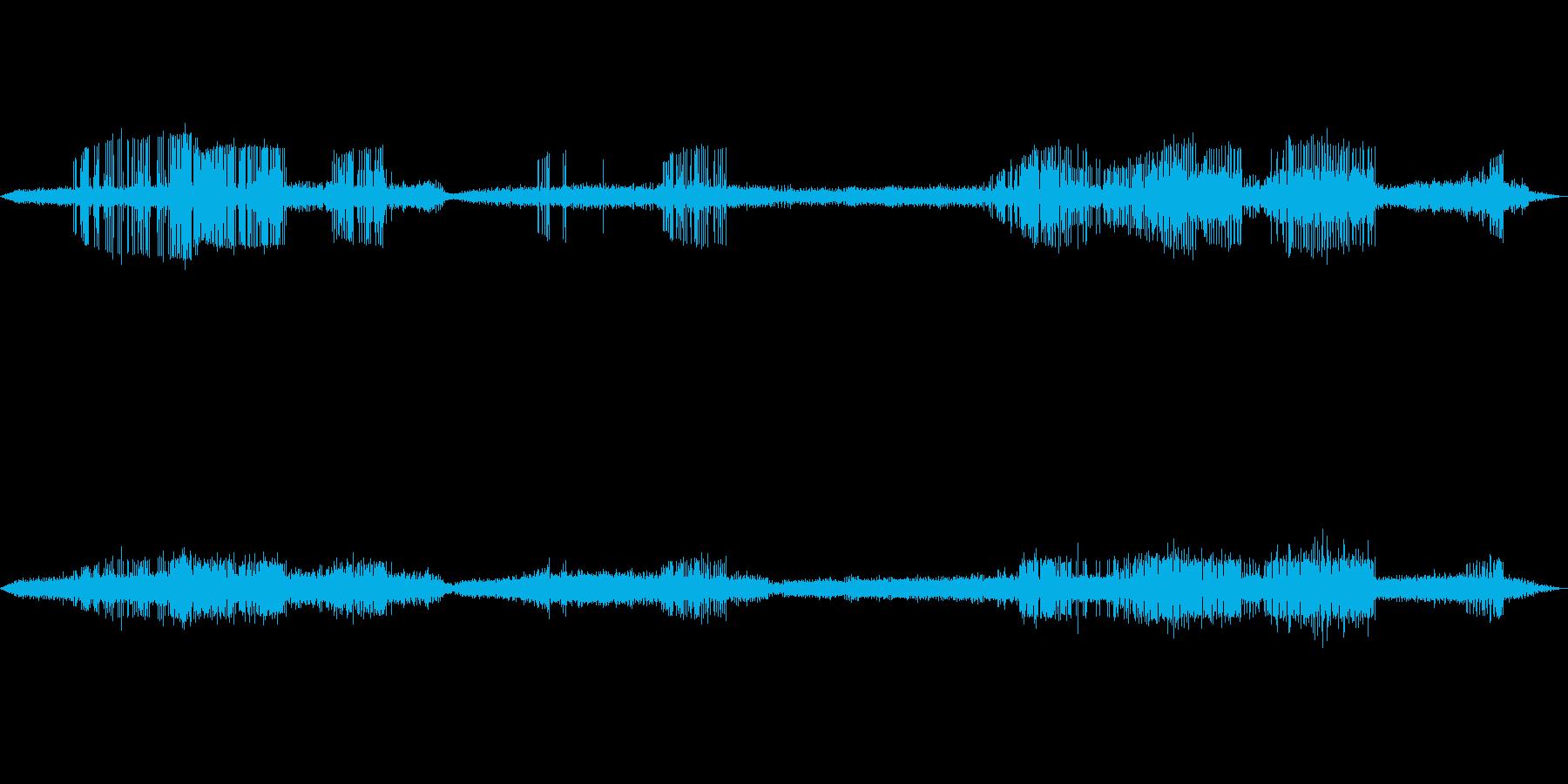 【自然音】カエルの鳴き声01(白州)の再生済みの波形