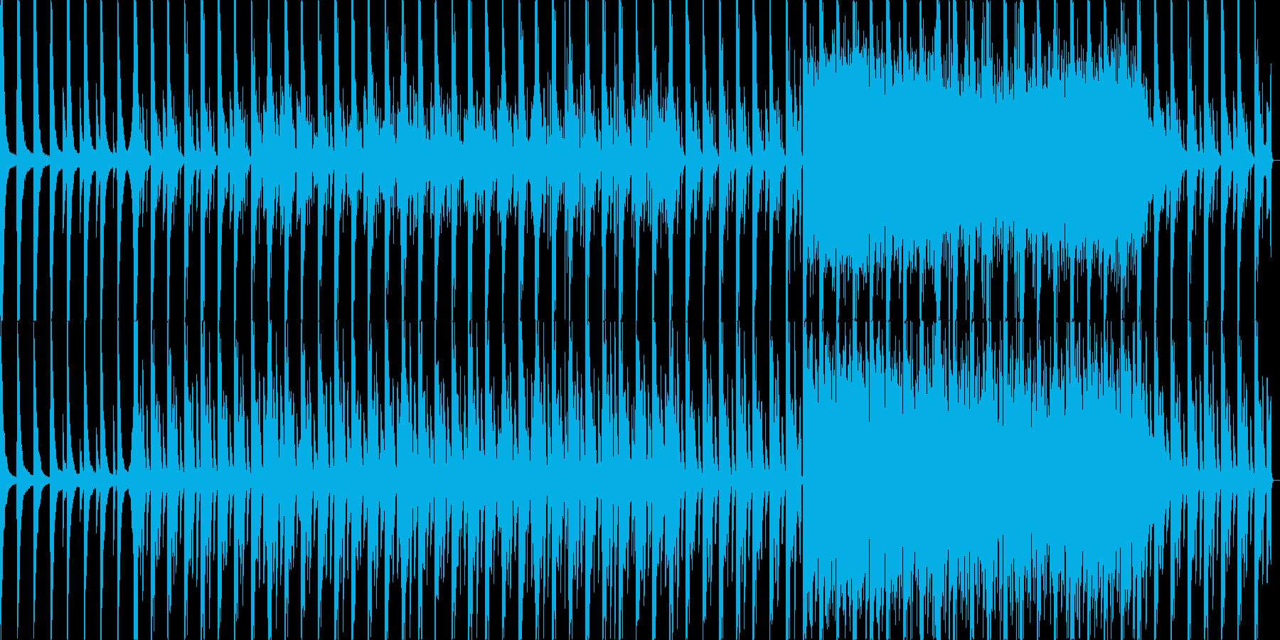 冬の切ない感じのラウンジエレクトロニカの再生済みの波形